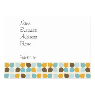 Blue Orange Tan Fall Colors Leaf Pattern Pack Of Chubby Business Cards