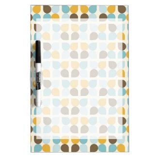 Blue Orange Tan Fall Colors Leaf Pattern Dry-Erase Whiteboard