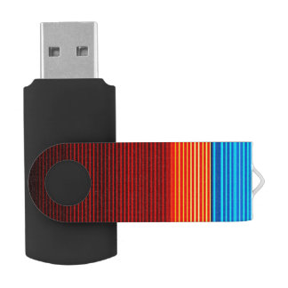 Blue Orange Yellow Red Black Stripes USB Flash Drive