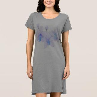 Blue Orchid T shirt Dress