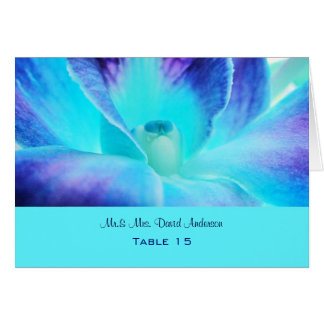 Blue Orchid Wedding Place Card