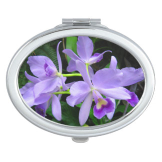 Blue Orchids Compact Mirror