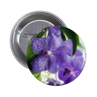 Blue Orchids Painterly Pin
