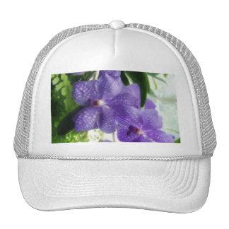 Blue Orchids Painterly Mesh Hat