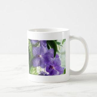 Blue Orchids Painterly Mug