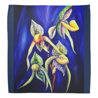 Blue orchids  painting bandana