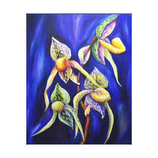 Blue orchids  painting canvas print