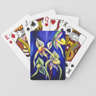 Blue orchids  painting playing cards