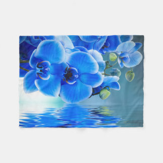 Blue Orchids Small Fleece Blanket