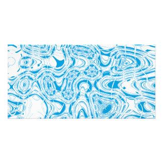 Blue organic abstract photo greeting card
