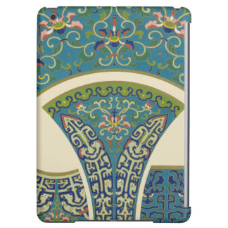 Blue Oriental Designs with Smiling Faces