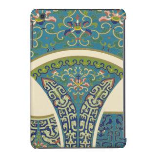 Blue Oriental Designs with Smiling Faces iPad Mini Cases
