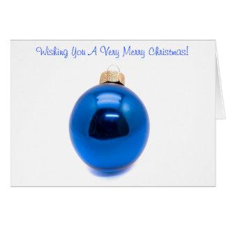 Blue Ornament Bauble Christmas Card