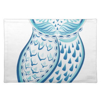 Blue Ornamental Owl2 Placemat