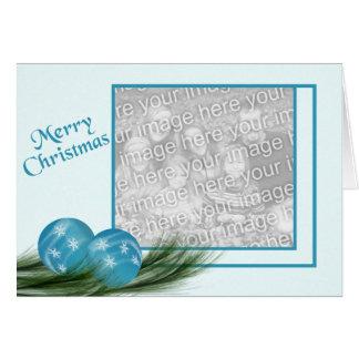 Blue Ornaments Christmas Card