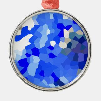 Blue ornaments Silver-Colored round ornament