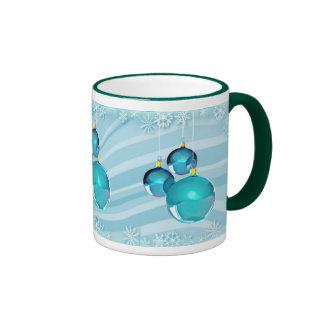 BLUE ORNAMENTS & SNOWFLAKES by SHARON SHARPE Mug