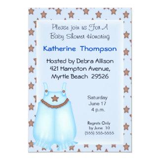 Blue Overalls  Baby Shower Invitation