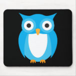 Blue Owl - Add Your Own Text Mouse Mat