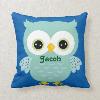 Blue Owl Baby Keepsake Cushion