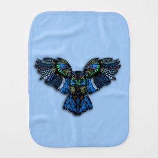 Blue Owl Burp Cloth