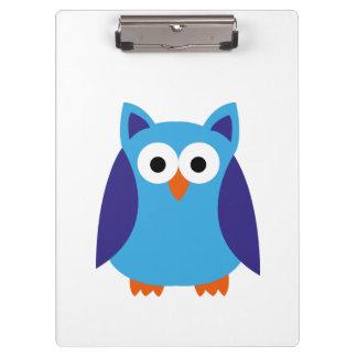 Blue owl cartoon clipboards