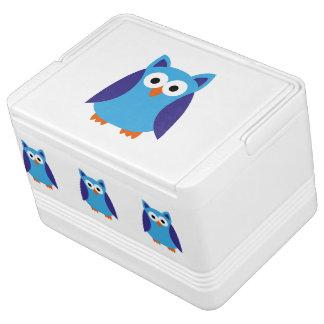 Blue owl cartoon cooler