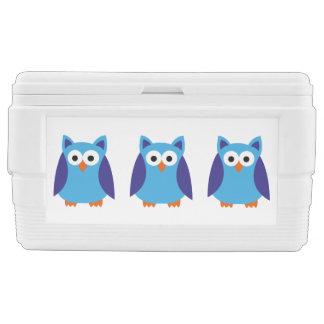 Blue owl cartoon ice chest