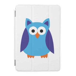 Blue owl cartoon iPad mini cover