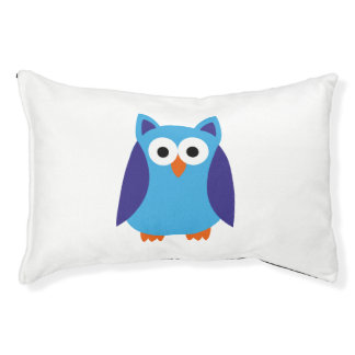 Blue owl cartoon pet bed