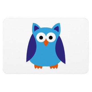 Blue owl cartoon rectangular photo magnet