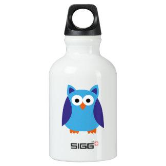 Blue owl cartoon SIGG traveller 0.3L water bottle