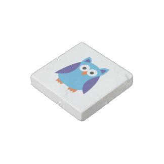 Blue owl cartoon stone magnet