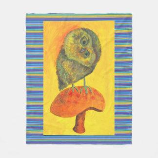 blue owl fleece blanket