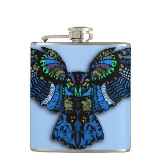Blue Owl Hip Flask