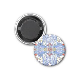 Blue Owl Mandala 3 Cm Round Magnet