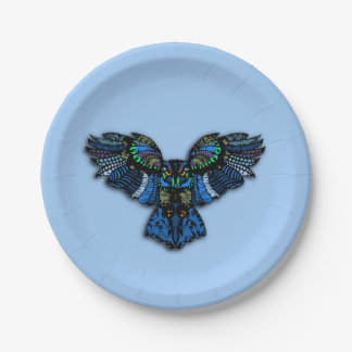 Blue Owl Paper Plate
