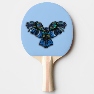 Blue Owl Ping Pong Paddle