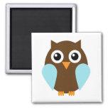 Blue Owl Refrigerator Magnets