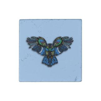 Blue Owl Stone Magnet