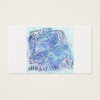 Blue Owl watercolour Business Card
