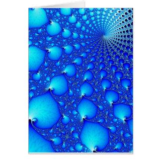 Blue Oyster Spiral Card