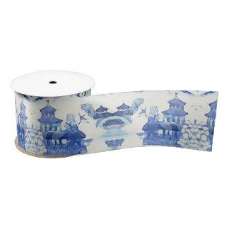 Blue Pagoda Ribbon by Redux121DesignStudio Satin Ribbon