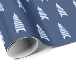 Blue Pagodas by Redux121DesignStudio Wrapping Paper