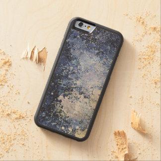 Blue Paint Splatter Acid Wash Texture Carved® Maple iPhone 6 Bumper