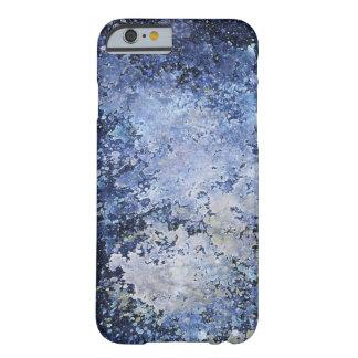 Blue Paint Splatter Acid Wash Texture iPhone 6 Case