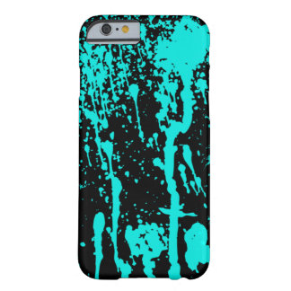 Blue Paint Splatter and Drips Barely There iPhone 6 Case