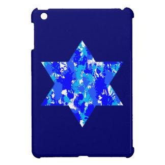 Blue Paint Splatter Jewish Star iPad Mini Cover