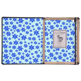 Blue Paint Splatter Jewish Stars Cases For iPad