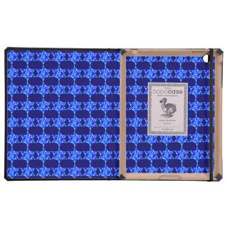 Blue Paint Splatter Jewish Stars iPad Covers